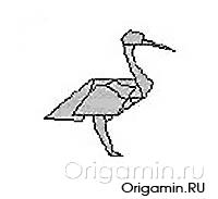 оригами аист из бумаги