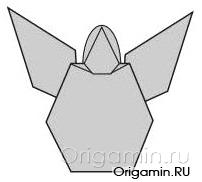 оригами ангел из бумаги
