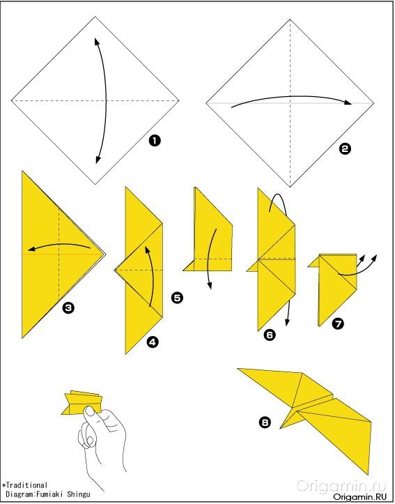 как делать из оригами бабочку
