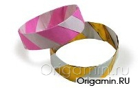 оригами браслет из бумаги