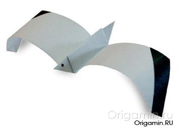 оригами чайка из бумаги