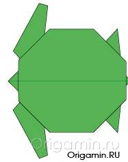 оригами черепаха из бумаги