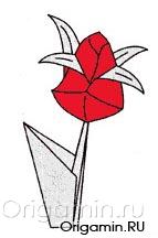 оригами цветы из бумаги