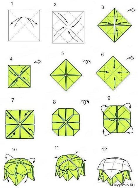 Лотос из бумаги не оригами