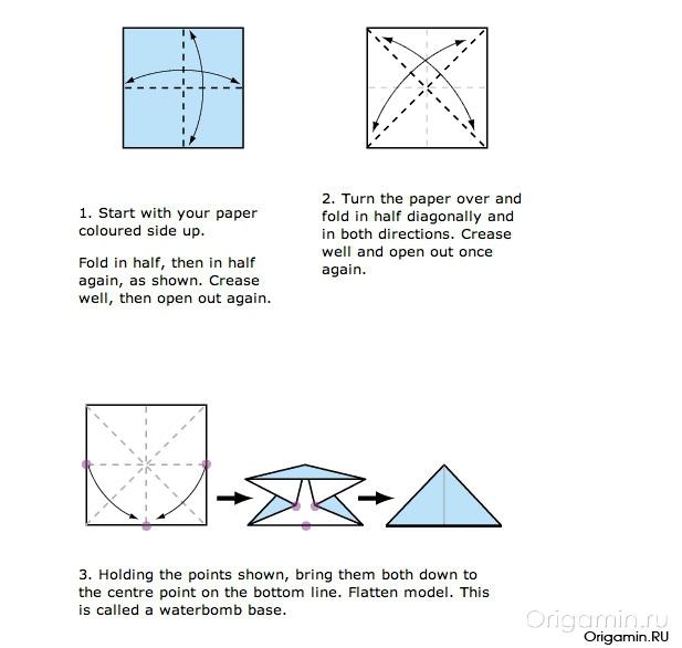 оригами лилия схема.
