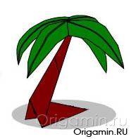 оригами дерево из бумаги