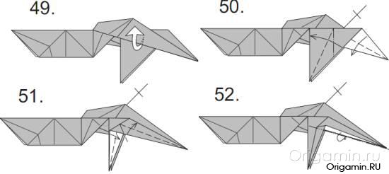 динозавр из бумаги