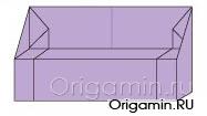 оригами диван из бумаги