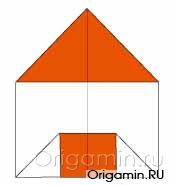 оригами дом из бумаги