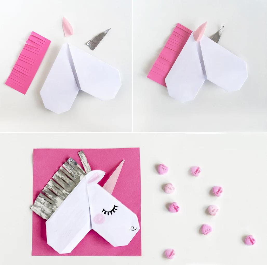 Оригами как сделать единорога из 33