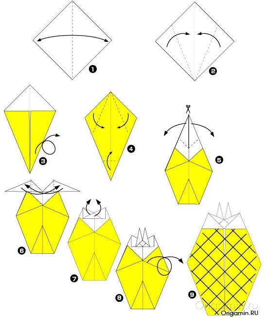 Ваза из модулей ананас