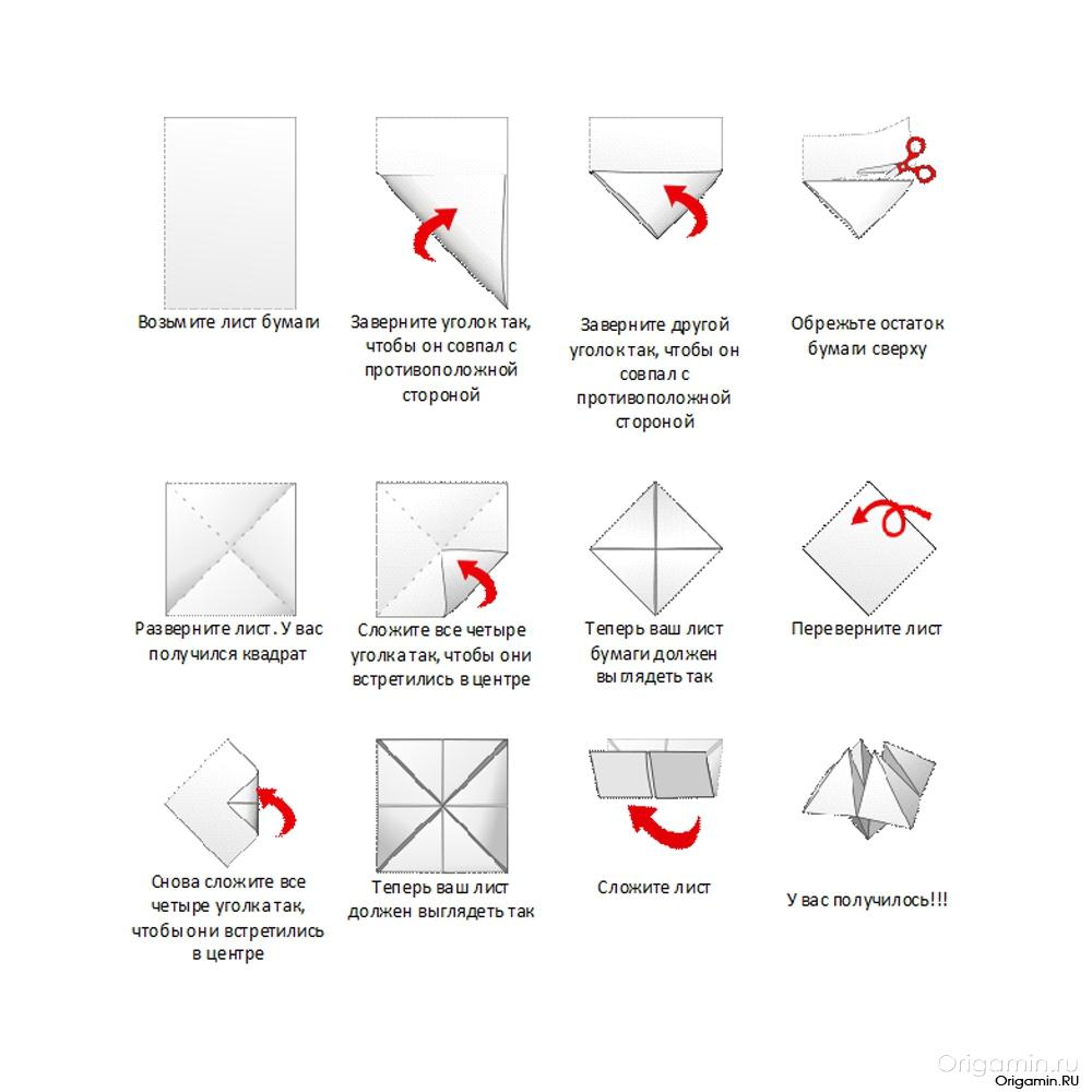 Оригами из бумаг. гадалка