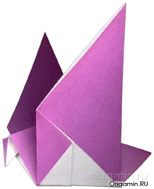 оригами голубь из бумаги