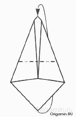 схема оригами гуся