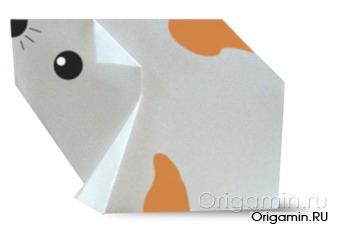 оригами хомяк из бумаги