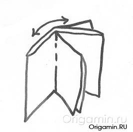 оригами книга из бумаги