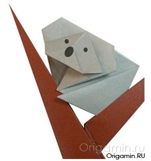 оригами коала из бумаги