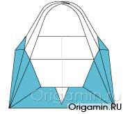 оригами корзинка из бумаги