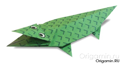 оригами крокодил из бумаги
