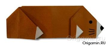оригами крот из бумаги