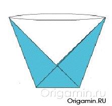 оригами кружка из бумаги