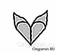 оригами крылья из бумаги