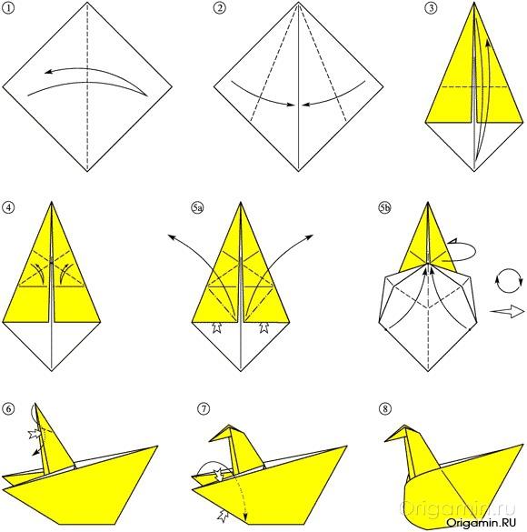 Как сделать поделку оригами из бумаги 64