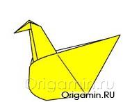 оригами курица из бумаги