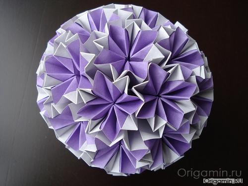 оригами кусудама из бумаги