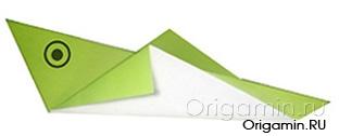 оригами кузнечик из бумаги