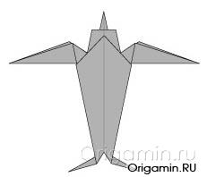 оригами ласточка из бумаги