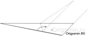 схема оригами лебедя