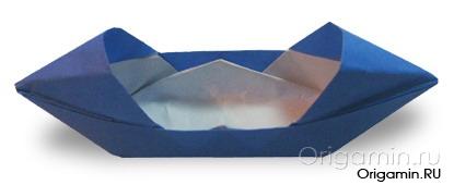 оригами лодка из бумаги