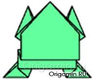 оригами лягушка из бумаги