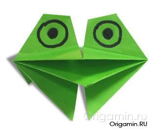 Как сделать из бумаги рот лягушки