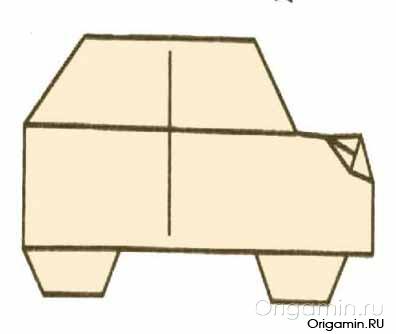 оригами машина из бумаги