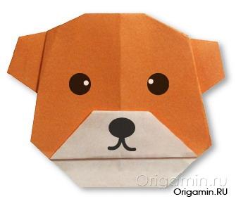оригами медведь из бумаги