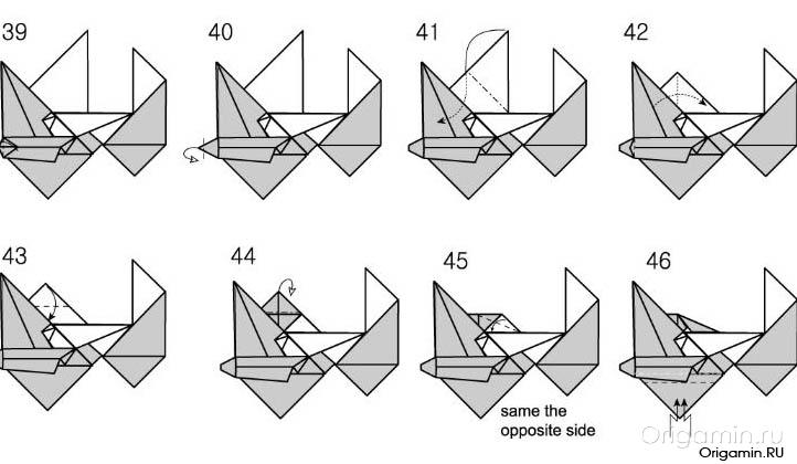 оригами мотоцикл картинки несколько пока