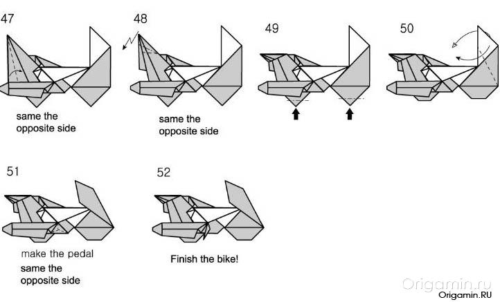 стрижка оригами мотоцикл картинки как многих
