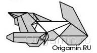 оригами мотоцикл из бумаги