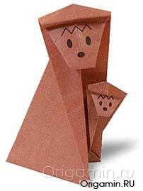 Обезьяна своими руками из бумаги оригами