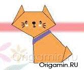 оригами кот из бумаги
