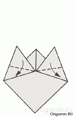 рыба <em>оригами для детей рыбка</em> из бумаги