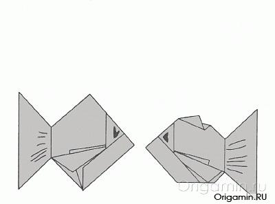 рыба из бумаги