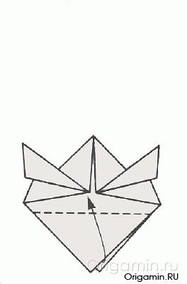 схема оригами рыбы