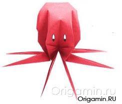 оригами осьминог из бумаги