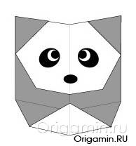 оригами панда из бумаги