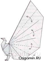 павлин из бумаги