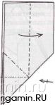 схема оригами павлина
