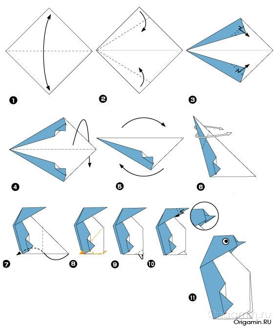 Как сделать пингвина из бумаги своими руками
